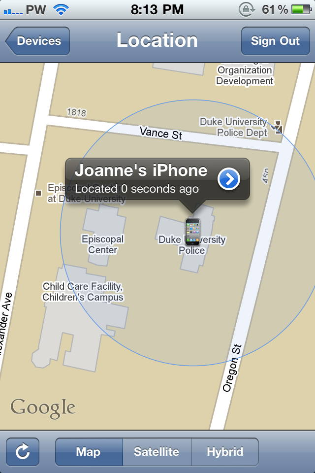 find my wife s iphone how i got my s iphone back with mobileme and find my 14100